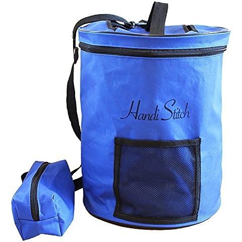 Handi Stitch Bolsa Materiales Costura + ¡Bolsillo Accesorios! Organice Tejidos/Ganchillo – Ligero y Fácil de Llevar