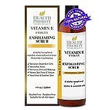100% Natürliches Vitamin-E-Gesichtspeeling. Das reiche & cremige Peeling mit Jojobaperlen + Alpha-Hydroxy-Säure hilft, das Gesicht zu waschen, zu reinigen & zu peelen. Das beste Peeling, um einen unebenen Hauttonus und Akne zu beheben. (4 flüssige Unzen)