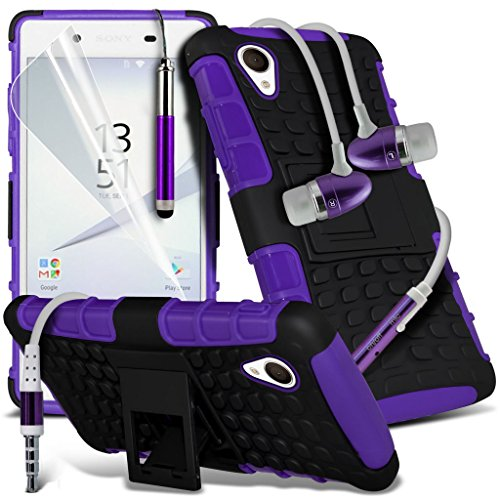 (Clear) Fall für <b>      Apple iPhone 6s hülle     </b>     Fall hochwertiges und haltbares Survivor TPU Clear Gel Case Hülle+ Aluminium Ohrhörer Ohrhörer von i-Tronixs Shock proof + Earphone (Purple)