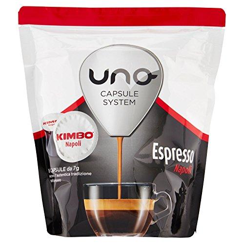Kimbo Capsule Uno Espresso Napoli, 1 x 6 Confezioni da 16 Capsule, Totale 96 capsule
