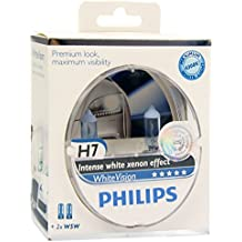 Philips WhiteVision 12342WHVSM - Bombilla Para Faros Delanteros (Efecto Xenon H7), Pack 2 Unidades