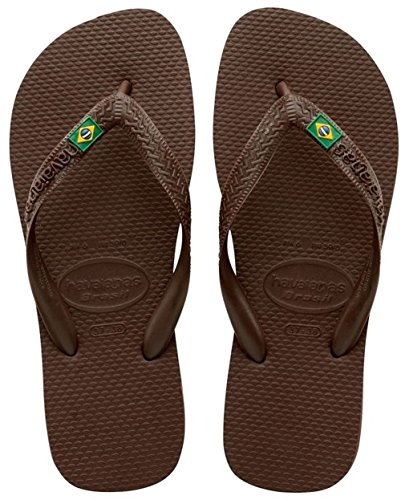 HAVAIANAS BRASIL 4000032 INFRADITO UNISEX ADULTO MARRONE DARK BROWN