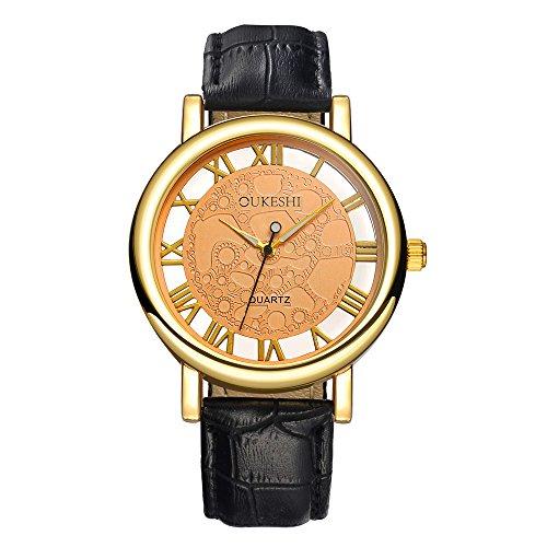 SamMoSon Relojes Hombre Resistentes Al Agua Mujer Azul Elegantes,Moda Hombre Fecha Cuero Acero Inoxidable Acero Militar Reloj De Pulsera