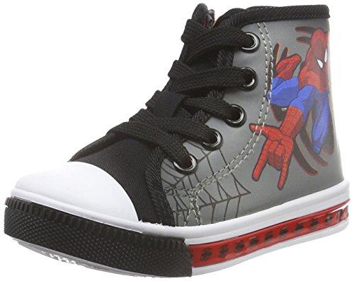 SpidermanBoys Kids High Sneakers - Scarpe da Ginnastica Basse Bambino , Grigio (Grau (Blk/Mgr/Blk 239)), 28