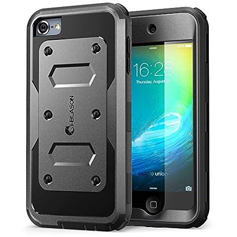 Apple iPod Touch 6 / 5 Generation Hülle, i-Blason Armorbox Case für iPod mit eingebauter Displayschutzfolie (Schwarz)