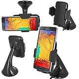 ESELLERS® 360° Windscreen Car Holder Mount Cradle For Samsung Galaxy A3 2017, A5 2017, A3, A5, J3, J5, Note 5/4/3/2, Note Edge, S9, S9 Plus, S8, S8 Plus, S7, S7 Edge, S6, S6 Edge, S5, S5 Mini, S4, S4 MIni(FM)
