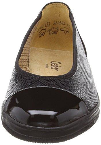Gabor - Mocassini, Donna Nero (Black (Black Leguan/Patent))