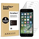 iVoler [4 Unidades] Protector de Pantalla para iPhone 8 Plus/iPhone 7 Plus/iPhone 6S Plus/iPhone 6 Plus, Cristal Vidrio Templado Premium [Dureza 9H] [Anti-Arañazos] [Sin Burbujas] - Transparente