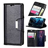 fitmore iPhone Xr Wallet Hülle, [Folio Style] Premium iPhone Xr Karte Hülles Stand Feature Kompatibel mit iPhone Xr [Black] Women Flip Cover mit Women
