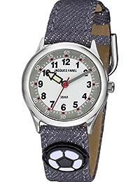 06f5375901a3 Jacques Farel hcc1022 Fútbol Reloj niño niños reloj textil aluminio ...