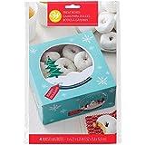 Wilton Keksschachtel Schneekugel Design - Kuchen- und Keksbox, 3 Stück