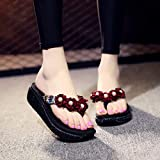 Lailailaily?Ladies Fashion?Flip-Flops Flower?Loafer?Beach?Shoes?Women?Flats?Slipper?Sandals