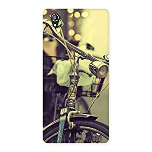 Gorgeous Bycycle Vintage Back Case Cover for Lava Iris 800