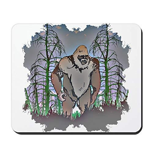 CafePress Bigfoot In Timber Mauspad, rutschfest, Gummi