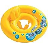 Intex PVC My Baby Float Inflatable Swimming Pool Tube Raft (Yellow, 59574-Baby Float)