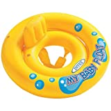 Intex PVC My Baby Float Inflatable Swimming Pool Tube Raft (Yellow, 59574-Baby Float)
