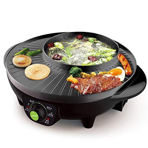 Grill elettrico multi-funzione elettrica hot pot domestica fornello elettrico senza fumo antiaderente barbecue vassoio/padella barbecue macchina 1600 w