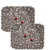 Alfombrillas para fregadero, fregadero de cocina Mat Protector PVC protege vidrio guijarro marrón 30 * 40 cm
