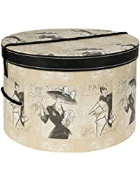 Lierys Hutschachtel Hutbox Hutkoffer Madame 28 cm für Damen Hutschachtel Hutbox Winter Sommer