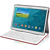 Rapoo TK312 Keyboard Case für Samsung Galaxy Tab® Pro 12.2 (integrierte Bluetooth Tastatur, deutsches Layout) rot