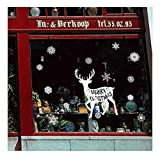 Best Animal World Mooses - QTZJYLW Christmas Window Stickers Christmas Moose Pattern Removable Review