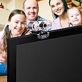 Webcam 1080P, Papalook PA452 de Alta Definición con Micrófono con Gran Apertura Compatible con Skype, MSN, Facebook, Google Hangouts, Webcam de USB Plug and Play para Youtube Vídeo Radiodifusión, Soporte Llamadas y Grabación de vídeo, Web Cam para Ordenador, PC, Portátil, etc.
