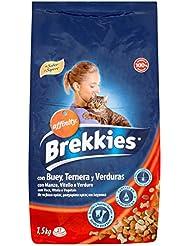 Brekkies Alimento per Gatti con Manzo e Vitello - 1.5 kg