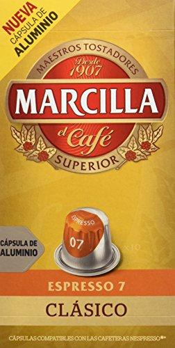 Marcilla Café Espresso Clásico Intensidad 7 - 10 Cápsulas