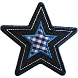 2 Parche de bordado o planchado Estrella 10X9Cm Búho De La Flor 8X9Cm termoadhesivos bordados aplique para ropa con diseño de TrickyBoo Zurich Suiza por España