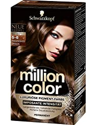 Million Color Intensiv-Pigment-Farbe 5-6 Magisches Braun  Stufe 3, 3er Pack (3 x 126 ml)