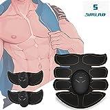 Elektrostimulation ABS Elektrischer Muskelstimulation EMS-Training Muskelaufbau und Fettverbrennung Massage-gerät Wireless Body Gym Home Fitness Machine für Bauch Arm Bein Training Männer Frauen