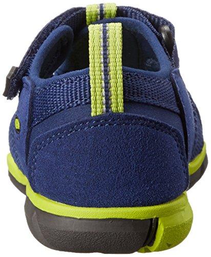 Keen Seacamp II CNX Sandali da Trekking, Unisex - Bambini Blu (Blue Depths/Lime Green)