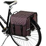 BikyBag Beluko Classic - Sacoche Double pour vélo (Marron à Pois)