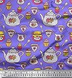 Soimoi Lila Baumwolle Ente Stoff Marmeladenglas, Kettle &