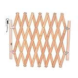 Cysincos zusammenklappbare, freistehende Barriere für Haustiere, Hundegatter, Sicherheitsbarriere für Haustiere, aus Holz