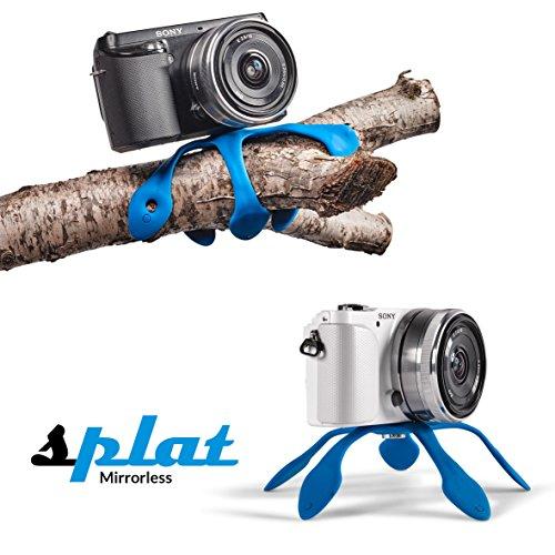 Miggo SP-CSCBL20 - Mini trípode flexible para cámaras Compactas / Evil / Hibridas, color azul