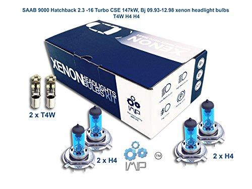 Preisvergleich Produktbild SAAB 9000Schrägheck 2.316-Turbo CSE 147Kw, Bj 09.93–12.98T4W Xenon Lampen Scheinwerfer H4H4