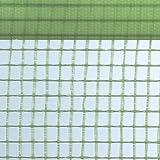 Gitterfolie Gitterplane mit beidseitigem Nagelrand 1,5 x 50 m Rolle grün-transparent mit Gitterarmierung, UV-stabilisiert, ca. 260 g/m