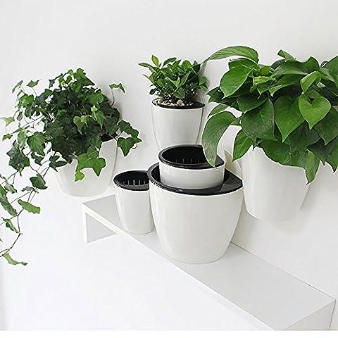 MaGeBao Pot de fleurs à suspendre Support mural créatif Stockage de l'eau pour un arrosage automatique Idéal pour la décoration de la maison ou du bureau Small(10.5*10.7cm)