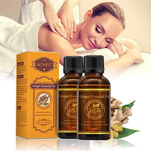 30 ml Ingwer Öl Ingweröl Natürliche Reine Ätherische Öle Anlage Therapie Lymphdrainage Schönheit Große Förderung Körper Massage Öle Aromatherapie Naturreines ätherisches BIO (2 pc)