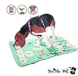 Tee-Moo Perro Snuffle Mat Yummy Playing Blanket Pet Nosework Joy Soogan para entrenar Habilidades naturales de forraje Estera de alimentación para perros para liberar el estrés Verde, Large