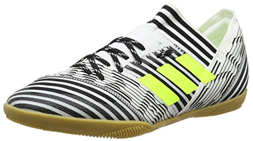 adidas Unisex-Kinder NEMEZIZ Tango 17.3 in Fußballschuhe, Weiß (Footwear White/Solar Yellow/Core Black), 34 EU (Indoor-fußballschuh Adidas)