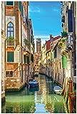 Wallario Poster - Urlaub in Venedig, Kanal zwischen bunten