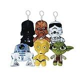 1x Star Wars Bagclip Schlüsselanhänger Plüsch Plüschtier Variantenauswahl (Yoda/grün)