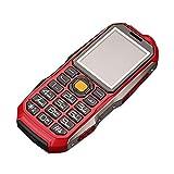 Altsommer Stoßfest Senioren handys mit Große Stimme,Dual-SIM,Großen Tasten,Bluetooth, Taschenlampe,FM Radio,Lange Standby-Zeit Mobiltelefon,Multi Sprachen, GPRS Seniorenhandy (Rot)