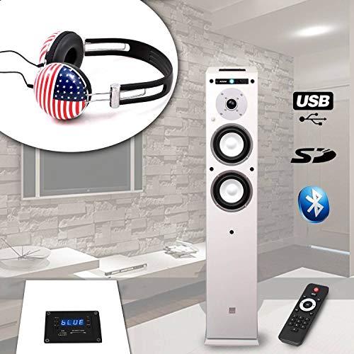 Spalte koda-center-wh USB/Bluetooth-/60W + Kopfhörer soundlab-a081USA