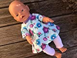 Puppenkleidung handmade Sommerset für Baby Born little Chou Krümel Muffin Puppen Gr. 40-45 cm...