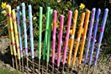 3 x Large Citronella Garden Torches Candles Citron BBQ Party Garden Pick Colour Green, Pink, Orange, Blue, Yellow +NEW (Blue)