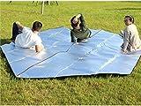 Unbekannt Unbekannt Schön Wasserdichte Sand-Beweis-Aluminiumfolie-Decke Schlafmatte für das Kampieren (Silber) (Farbe : Silver)