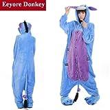 iCollection Costume ou pyjama Bourriquet unisexe, une pièce -  Bleu - Bleu - X-Large